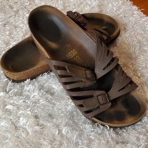 Birkenstock brown double cutout strap size 9